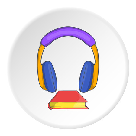audio book: Audio book icon. Cartoon illustration of audio book vector icon for web