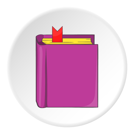 thick: Thick book with bookmark icon. Cartoon illustration of thick book with bookmark vector icon for web Illustration