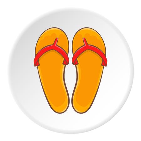 sandalias: Icono flips flips. Ilustración de dibujos animados de flips flops vector icono para la web Vectores