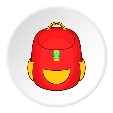 Schulrucksack-Symbol. Cartoon Illustration der Schule Rucksack Vektor Symbol für das Web