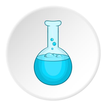 hypothesis: Laboratory flask icon. Cartoon illustration of laboratory flask vector icon for web Illustration