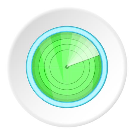 blip: Radar icon. Cartoon illustration of radar vector icon for web Illustration