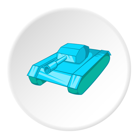 turret: Tank icon. Cartoon illustration of tank vector icon for web