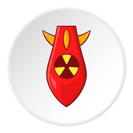 vector nuclear: Nuclear warhead icon. Cartoon illustration of nuclear warhead vector icon for web Illustration