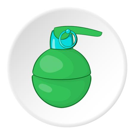 Grenade icon. Cartoon illustration of grenade vector icon for web