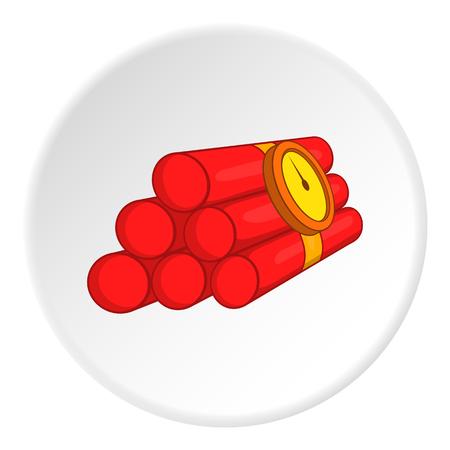 dinamita: icono de la dinamita. Ilustración de dibujos animados de vectores icono de la dinamita para la web