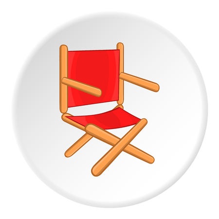 Directors chair icon. Cartoon illustration of directors chair vector icon for web