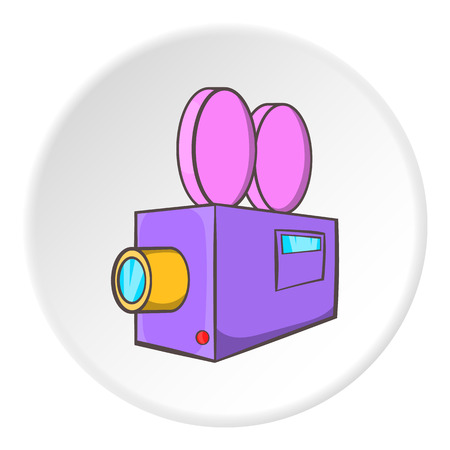 Camcorder icon. Cartoon illustration of camcorder vector icon for web