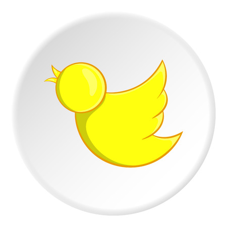 Yellow bird icon. Cartoon illustration of yellow bird vector icon for web