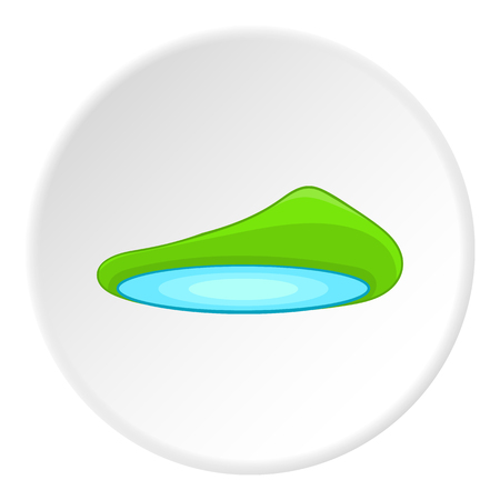 Lake landscape icon. Cartoon illustration of lake landscape vector icon for web