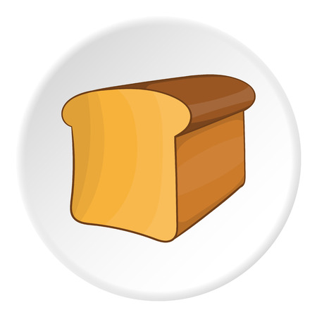 toasted sandwich: Bread icon. Cartoon illustration of bread vector icon for web