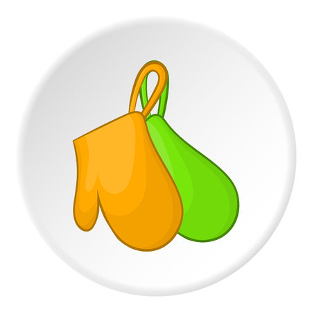 Potholders icon. Cartoon illustration of potholders vector icon for web
