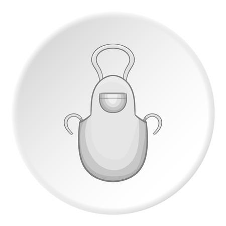 icono delantal. Ilustración de dibujos animados de icono de vector delantal para Web Vectores