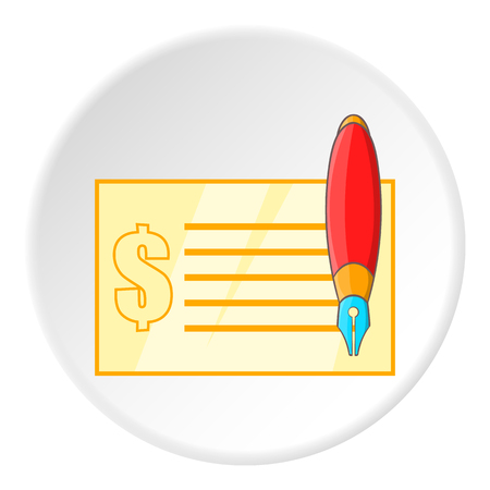 checkbook: Checkbook icon. Cartoon illustration of checkbook vector icon for web