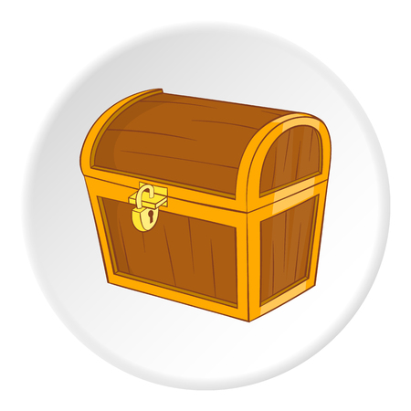 Chest icon. Cartoon illustration of chest vector icon for web Illustration