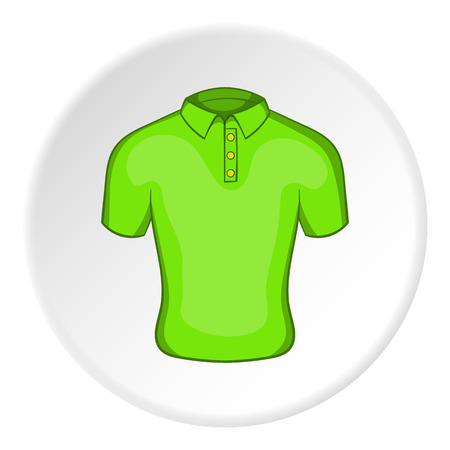 Men green polo icon. Cartoon illustration of men green polo vector icon for web Illustration