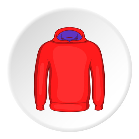 sweatshirt: Men winter sweatshirt icon. Cartoon illustration of men winter sweatshirt vector icon for web