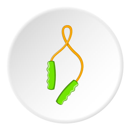 Skipping rope icon. Cartoon illustration of skipping rope vector icon for web