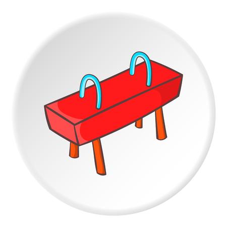 pommel: Pommel horse icon. Cartoon illustration of pommel horse vector icon for web Illustration