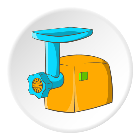 meat grinder: Electric grinder icon. Cartoon illustration of electric grinder vector icon for web