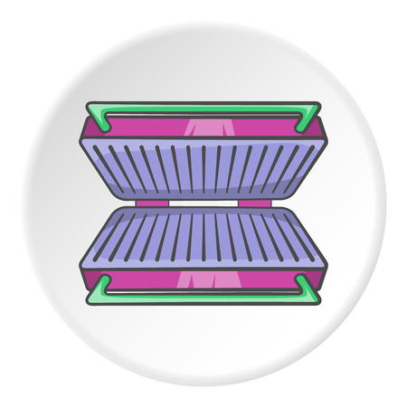 barbecue stove: Electric grill icon. Cartoon illustration of electric grill vector icon for web