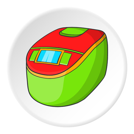 slow: Slow cooker icon. Cartoon illustration of slow cooker vector icon for web Illustration