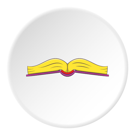 Book open in middle icon. Cartoon illustration of book open in middle vector icon for web Illustration