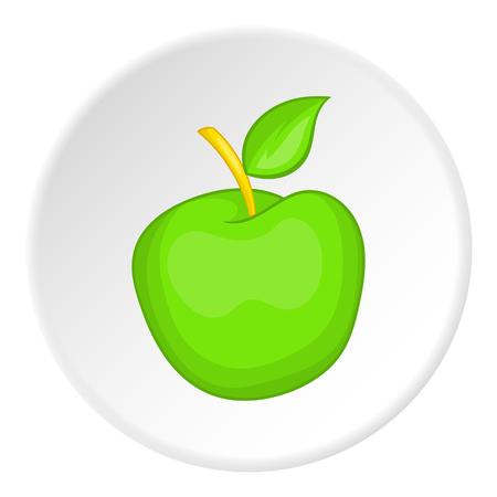 Green apple icon. Cartoon illustration of green apple vector icon for web