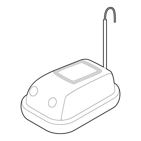 bumper: Bumper car in amusement park icon. Outline illustration of bumper car vector icon for web