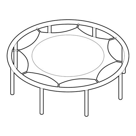 trampoline: Trampoline jumping icon. Outline illustration of trampoline jumping vector icon for web Illustration
