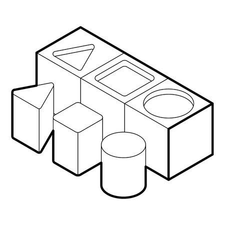 Form Sortierer Spielzeug Symbol. Umreißen Sie Illustration der Formsorter-Vektorikone für Netz Vektorgrafik