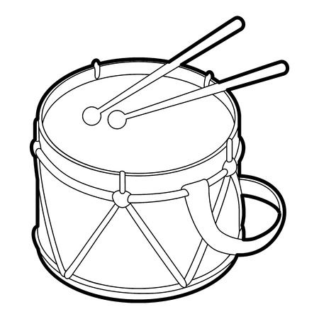 Toy drum icon. Outline illustration of toy drum vector icon for web Illustration