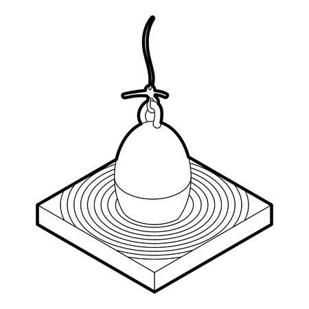 bobber: Bobber icon. Outline illustration of bobber vector icon for web