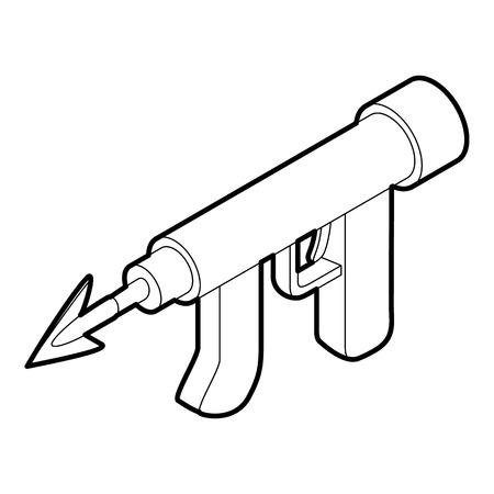 speargun: Underwater speargun icon. Outline illustration of underwater speargun vector icon for web