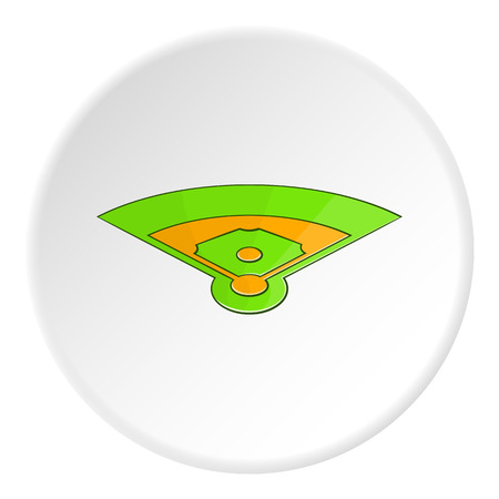 fast pitch: Baseball field icon.   illustration of baseball field vector icon for web Illustration