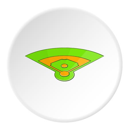 Baseball field icon.   illustration of baseball field vector icon for web Illustration