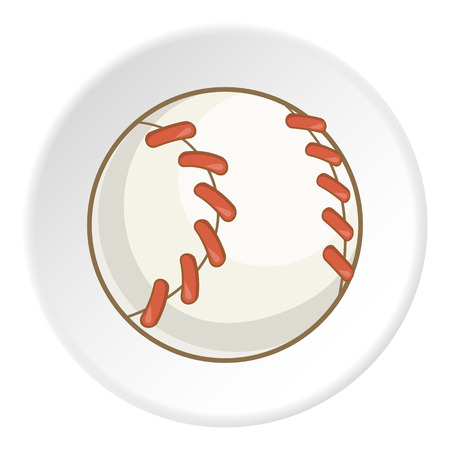 Baseball ball icon.  illustration of baseball ball vector icon for web Illustration