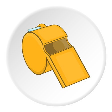 umpire: Sport whistle icon.  illustration of sport whistle vector icon for web