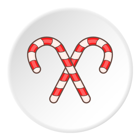 Striped candy cane icon.  illustration of candy cane vector icon for web Illustration