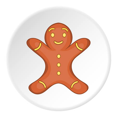 Gingerbread man icon.  illustration of vector icon for web Illustration