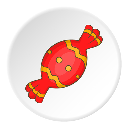 Candy in red wrapper icon. Illustration