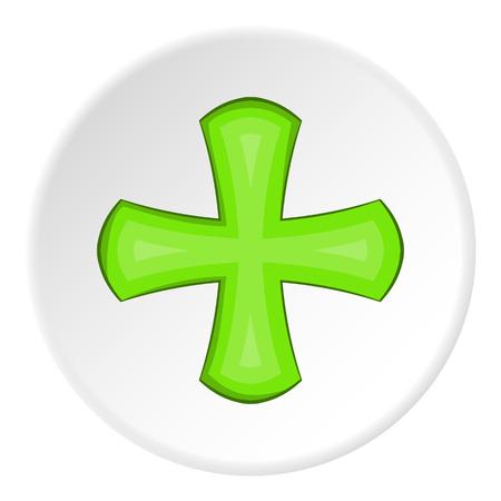 green cross: Green cross icon. illustration of green cross vector icon for web