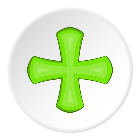 Green cross icon. illustration of green cross vector icon for web