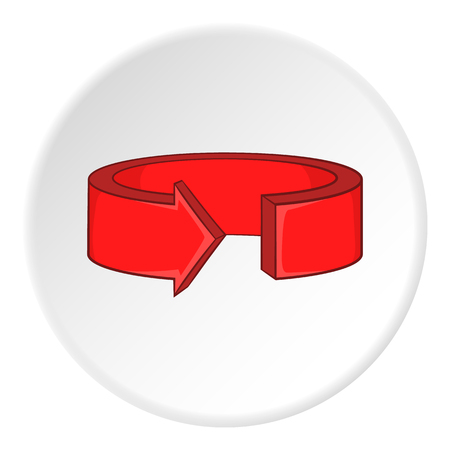 artoon: Red round arrow icon. artoon illustration of red round arrow vector icon for web