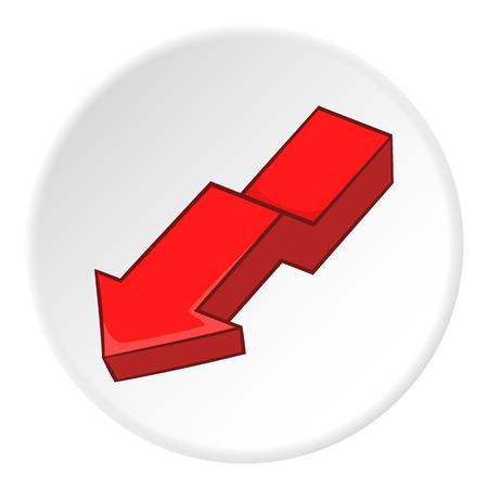 artoon: Red arrow icon. artoon illustration of red arrow vector icon for web