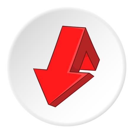 artoon: Red broken arrow icon. artoon illustration of red broken arrow vector icon for web