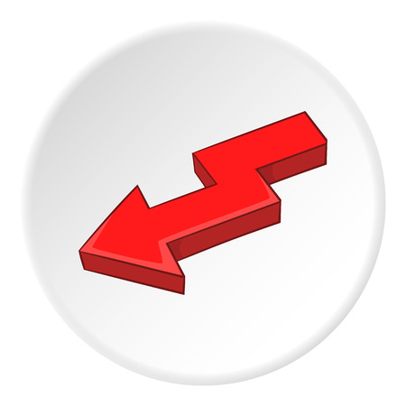 artoon: Red left arrow icon. artoon illustration of red left arrow vector icon for web