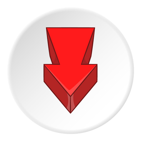 icon red: Red arrow icon. artoon illustration of red arrow vector icon for web