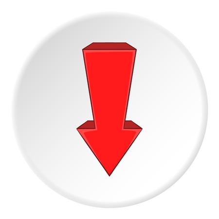 artoon: Red arrow down icon. artoon illustration of red arrow down vector icon for web Illustration