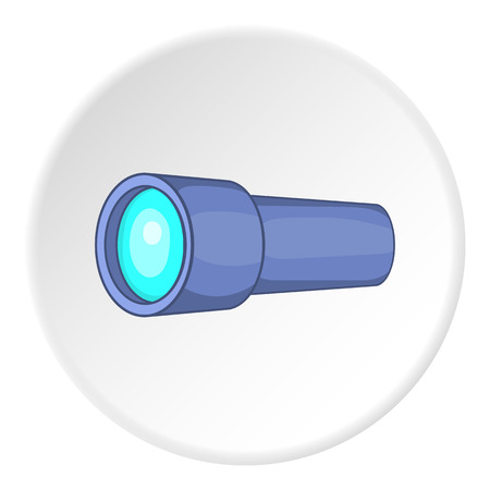 looking through an object: Monocular icon.   illustration of monocular vector icon for web Illustration